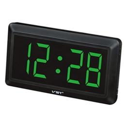 MagiDeal 4 '' Digital Uhr: Große Digital LED- Tisch- / Wanduhr mit 24 Stunden Display - Grün - 1