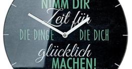 Moderne Wanduhr Küchenuhr Dekouhr Zimmeruhr Nimm dir Zeit..., 30 cm - 1