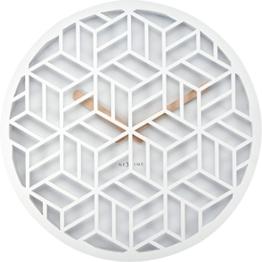 Nextime 3215Wi Discrete Wanduhr Holz weiß 36x 36x 4,6cm - 1