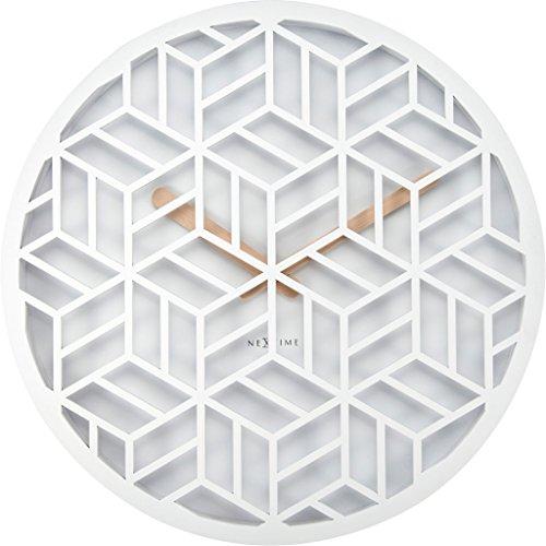nextime 3215 wi discrete wanduhr holz wei 36 x 36 x 4 6 cm 1 redidoplanet. Black Bedroom Furniture Sets. Home Design Ideas