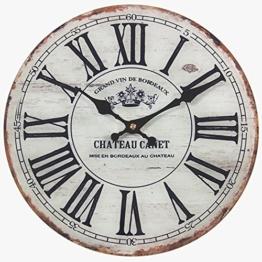 perla pd design Glaswanduhr Quarzuhr Vintage Design Chateau Canet ca. Ø 30 cm - 1