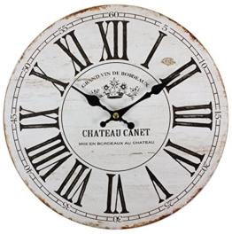 perla pd design Wanduhr Kinderuhr Vintage Design Chateau Canet ca. Ø 28 cm - 1