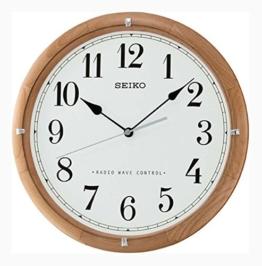 Seiko Unisex Wanduhren Holz weiß QXR208Z - 1