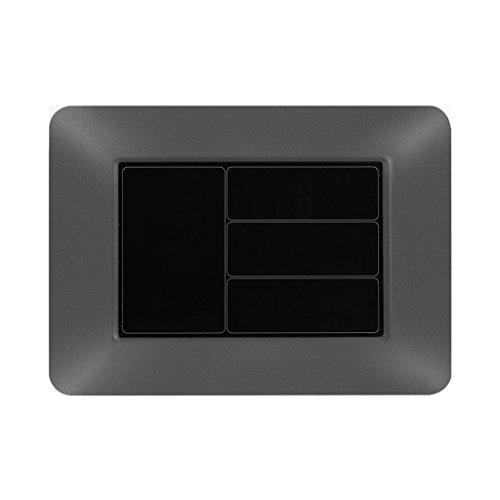 sharplace digitale farb lcd drahtlose wettervorhersage uhr thermometer hygrometer eu plug 3. Black Bedroom Furniture Sets. Home Design Ideas