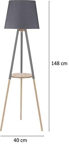 stehlampe lampe stehleuchte dreibein leuchte standleuchte. Black Bedroom Furniture Sets. Home Design Ideas