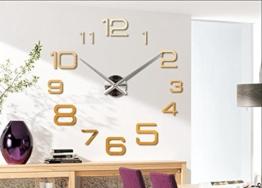 Sucastle Wohnkultur Wanduhr europäischen überdimensionalen Wohnzimmer moderne minimalistische Art und Weise DIY Wand Kunst Acryl - 1