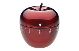 TFA Dostmann Küchentimer Apfel 38.1030.05 aus Edelstahl in Rot - 1