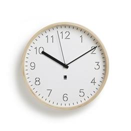 Umbra 118140-668 Rimwood Uhr mit Standfuß, Holz, natur / weiß - 1