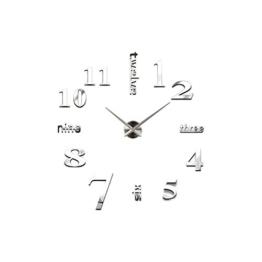 UNIQUEBELLA Wanduhr Riesige Spiegel Wanduhr Vinyl DIY Ø 130cm Große XXL Design Uhr küchenuhr Quarzuhr Analoguhr - 1