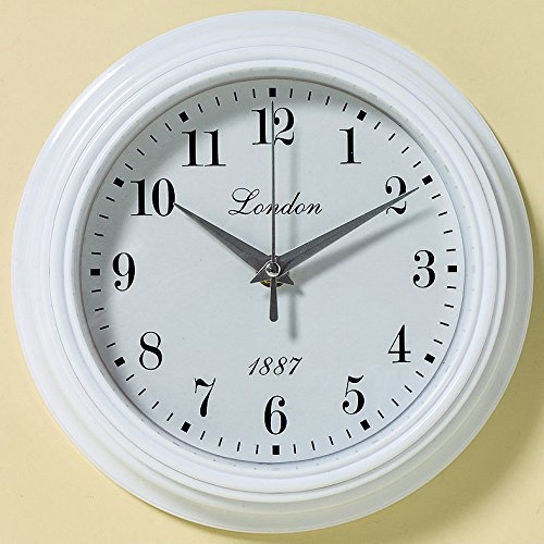 wanduhr 23cm weiss nostalgie london 1887 uhr shabby chic vintage dekorative k chenuhr. Black Bedroom Furniture Sets. Home Design Ideas