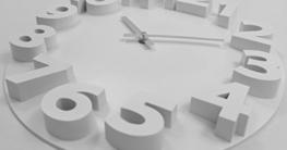 Wanduhr 3D in weiß 35 cm Quarz Designer Küchenuhr Uhr mit 3D-Zahlen - 2