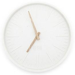 Wanduhr JUSTIN TIME rund Beton beige Wanduhr Clock Uhr batteriebetrieben - 1