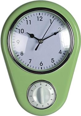 Wanduhr »Kitchen« Retro 50er Jahre Design mit Kurzzeitwecker (Grün) - 1