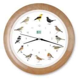 Wanduhr Singvögel Holzrahmen - 1