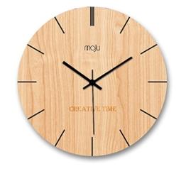 ZWL Woody Wanduhr Creative Study Schlafzimmer Ruhige Uhr Wohnzimmer Wanduhr Uhr 12-16 Zoll Holz Farbe Studio Studio Wanduhr fashion ( größe : 40*40cm ) - 1