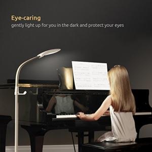 Aglaia LED Stehlampe, dimmbare Standleuchte 11W mit 3 Farbtemperaturen und 4 Helligkeitsstufen,die Stehleucht ( Augenpflege) für Wohnzimmer -Weiß - 3