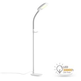 Aglaia LED Stehlampe, dimmbare Standleuchte 11W mit 3 Farbtemperaturen und 4 Helligkeitsstufen,die Stehleucht ( Augenpflege) für Wohnzimmer -Weiß - 1