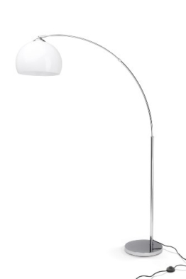 Brilliant Vessa Bogenstandleuchte, 1x E27 max. 60W, chrom/weiß 92940/75 - 1