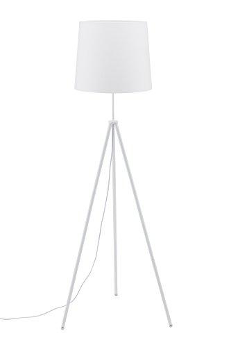 briloner leuchten stehlampe wei wohnzimmerlampe stoff lampenschirm inkl schnurschalter. Black Bedroom Furniture Sets. Home Design Ideas