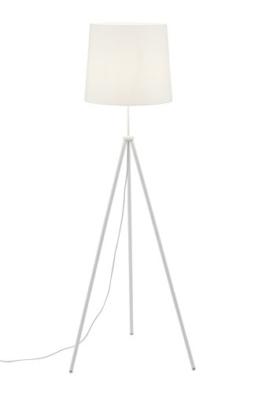 Briloner Leuchten - Stehlampe weiß, Wohnzimmerlampe, Stoff-Lampenschirm, inkl. Schnurschalter, E27, Höhe: 139.5 cm - 1