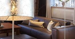 Design Steh Leuchte Stoff Decken Fluter Lese Stand Lampe silber glänzend Globo 15188S - 6