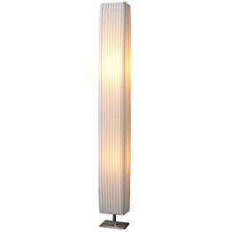 Design Stehlampe PARIS weiss 120 cm Stehleuchte mit Chrom-Fuß Wohnzimmer Lampe Leuchte Standleuchte - 1