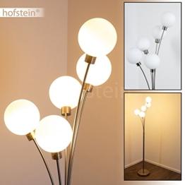 Stehlampe Bernado - Deckenfluter LED mit 5 Echtglaskugeln - Moderner Standleuchte fürs Wohnzimmer - Indirektes, warmweißes Licht für eine gemütliche Lichtstimmung in Ihren Räumen - 1