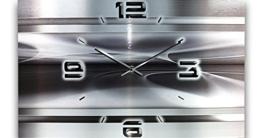 Abstrakt Metallic Designer Funk Wanduhr Funkuhr modernes Design * Made in Germany* WAG308FL * leise kein Ticken - 1