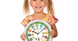 Cander Berlin MNU 1330 Kinderwanduhr (Ø) 30,5 cm Kinder Wanduhr mit lautlosem Uhrenwerk und farbenfrohen Tieren - Ablesen der Uhrzeit lernen - 3