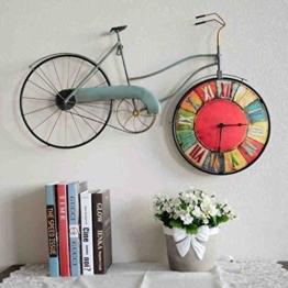 COCO American Style Retro Wohnzimmer Schlafzimmer Kreative Fahrrad Wanduhr Wanddekoration Persönlichkeit Dekoration Uhren und Uhren an der Wand Dekorationen Wanddekoration HOME - 1