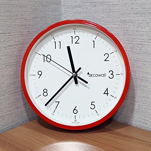 decowall dsh m22r 8 8 nicht tickende stille metall modern wanduhr diy f r wohnzimmer k che b ro. Black Bedroom Furniture Sets. Home Design Ideas