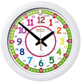 EasyRead Time Teacher Kinderwanduhr, zum Lernen der 12- & 24- Stunden-Zeit. Mit geräuschloser Bewegung. So lernt Ihr Kind, die Uhrzeit in 2 einfachen Schritten abzulesen. Für Kinder im Alter von 5-12 geeignet. - 1