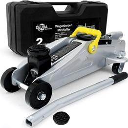 Hydraulischer Wagenheber 2 Tonnen + Koffer Roll- und Lenkbar inkl. Gummiauflage - Modellwahl - 1