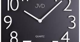 JVD HB16 Wanduhr Quarz analog Metall schwarz viereckig modern Magnetzahlen - 1