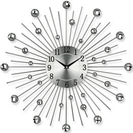 Küchenuhr - Bürouhr - Uhr - Moderne Designer Quartz Wanduhr Gerade - Silber - 1