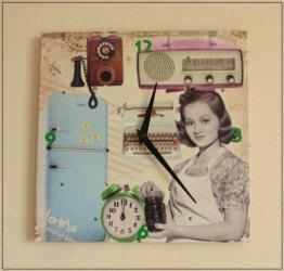 Küchenuhr FIFTIES Wanduhr im Retrolook Home Living - 1