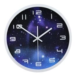 Modern Wanduhr Lautlos, CT-Tribe 12 Zoll Metall Wanduhr Uhr Uhren Wall Clock ohne Tickgeräusche - 2 - 1