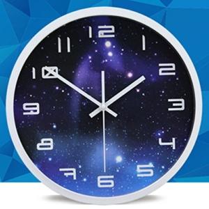Modern Wanduhr Lautlos, CT-Tribe 12 Zoll Metall Wanduhr Uhr Uhren Wall Clock ohne Tickgeräusche - 2 - 4