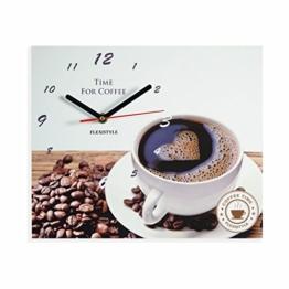 Moderne Küche Wanduhr Kaffee Liebe, rechteckig, wanduhr deko, 25 x 30 cm - 1
