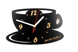 Moderne Küche Wanduhr Sehr leise Tasse Geschirr Dekorative 30 cm Frei Becherhalter - 1