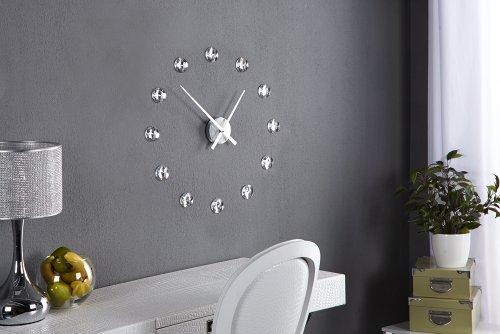 Moderne wanduhr diamond dream uhr mit frei platzierbaren kristallen aus acrylglas wanddekoration - Stehlampe mit kristallen ...