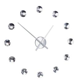 Moderne Wanduhr DIAMOND DREAM Uhr mit frei platzierbaren Kristallen aus Acrylglas Wanddekoration Dekoration - 1