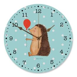Mr. & Mrs. Panda 30 cm Wanduhr Igel mit Luftballon - 100% handmade in Norddeutschland - Happy Birthday, Igel, Herzlichen Glückwunsch, Rund, Kinderzimmer, Geburtstagskind, Ballon, Druck, , Kunderuhr, Uhr, Geburtstag - 1