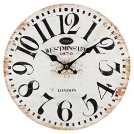 perla pd design Glaswanduhr Quarzuhr Vintage Design Westminster ca. Ø 30 cm - 1