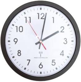 Sehr leise große Funkwanduhr Ø30 cm im modernen klaren Design für Küche, Büro, etc. - 1