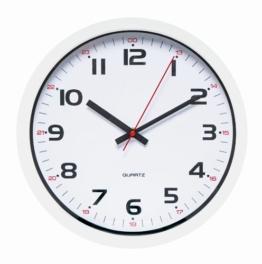 UNILUX 400014622 moderne Wanduhr Aria weiß 30,5 cm mit Sekundenzeiger doppelte Stundenmarkierung - 1
