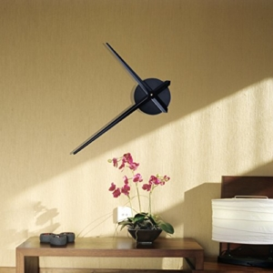 URAQT 3D Wanduhr Uhrwerk & Uhrzeigern Modern für die Wand, mit 2 Nadeln (schwarz) - 1