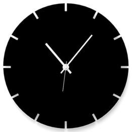 """Wandkings Wanduhr """"Gear Wheel"""" aus Acrylglas, in 11 Farben erhältlich (Farbe: Uhr = Schwarz glänzend; Zeiger = Weiß) - 1"""