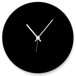 """Wandkings Wanduhr """"Scheibe"""" aus Acrylglas, in 11 Farben erhältlich (Farbe: Uhr = Schwarz matt; Zeiger = Weiß) - 1"""