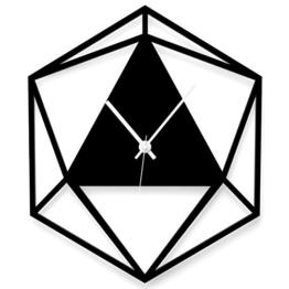 """Wandkings Wanduhr """"Triangle"""" aus Acrylglas, in 11 Farben erhältlich (Farbe: Uhr = Schwarz glänzend; Zeiger = Weiß) - 1"""